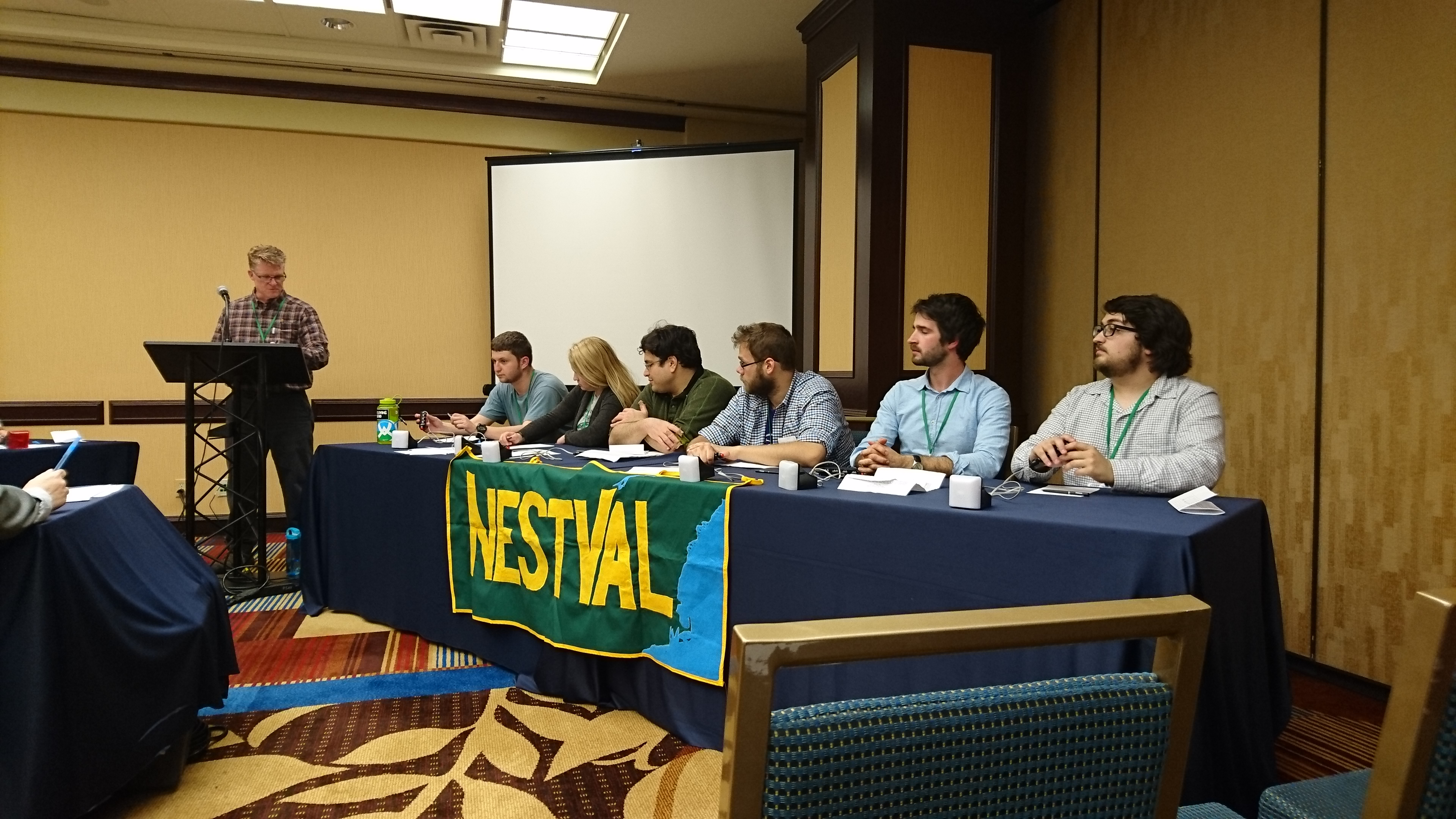 2016 World Geography Bowl, April 1, San Francisco. UMass geographers Julian Hartmann-Russell and Tyler Maren 2nd from right and far right
