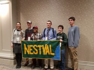 2019 AAG World Geography Bowl – NESTVAL team with banner